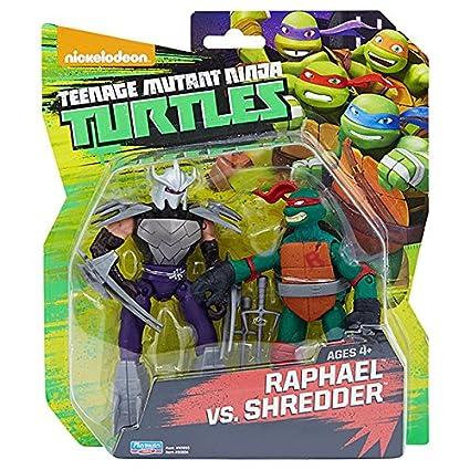 Amazon.com: Teenage Mutant Ninja Turtles Raphael vs Shredder ...