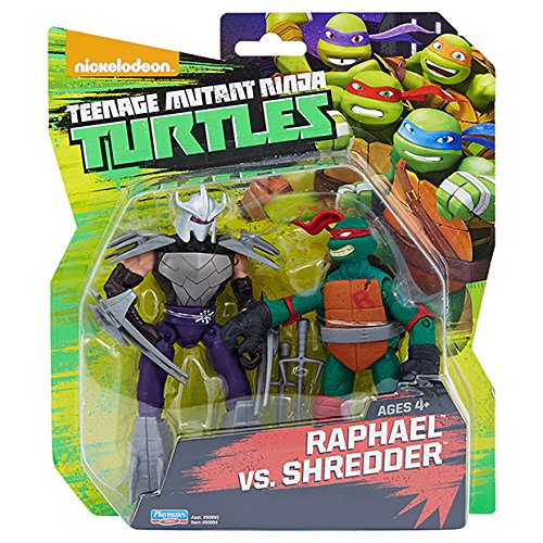 Teenage Mutant Ninja Turtles Raphael vs Shredder Exclusive Action Figure Two Pack]()