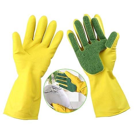 Amazon.com: 1 par de guantes de limpieza para lavavajillas ...