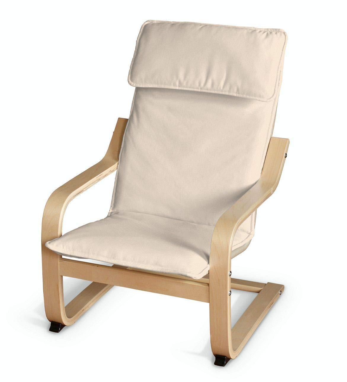 Dekoria Poäng Kissen für den Kindersessel Sesselhusse passend für IKEA Modell Klappsta beige