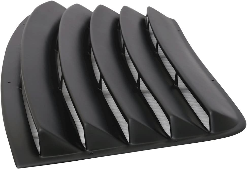 2009 2010 2011 2012 2013 2014 2015 Unpainted Black PUR Rear Windshield louver Sun Shade Cover by IKON MOTORSPORTS Window Louver Fits 2008-2016 Dodge Challenger