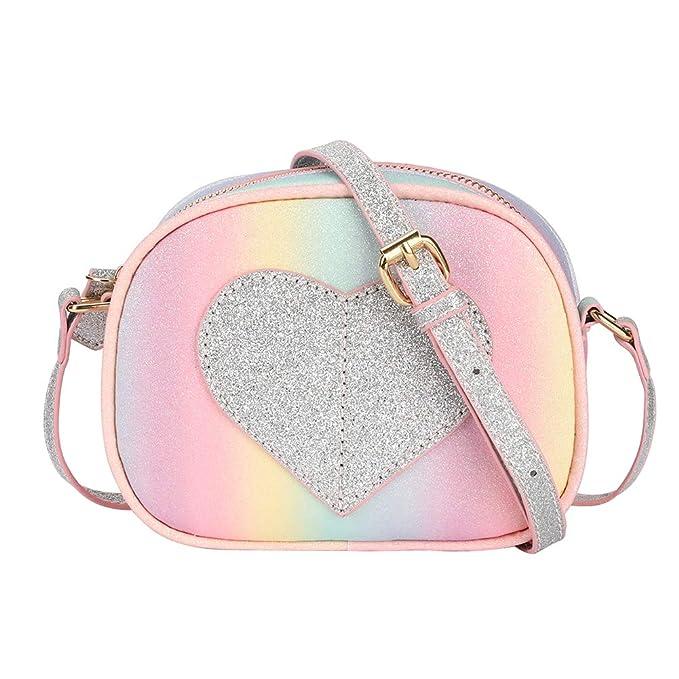 55de44dd664 CMK TRENDY KIDS Color Block Heart Shape Purses for Kids Girls Cross Body Bag