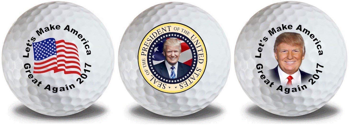 Donald Trump Trump Seal フラッグゴルフボール ボール3個入り ギフトパック   B07JVLND6T