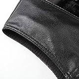 Old Mens V Collar Leather Vest Snap Closure