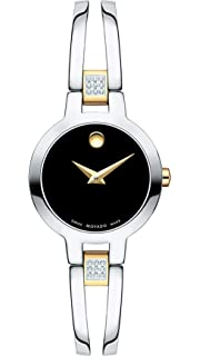 3baff317c4e Amazon.com  Movado Women s 604982 Amorosa Diamond-Accented Stainless ...
