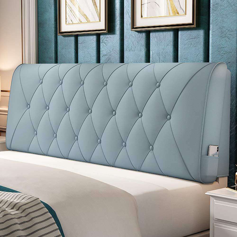 bluee 1506010cm LXLIGHTS Headboard Bedside Cushion Backrest Waist Pad Bed Wedge Sofa Pillow Easy to Install, 8 colors, 5 Sizes (color   White, Size   90  60  10cm)
