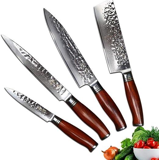 Compra YARENH Juego de Cuchillos de Cocina 4 Piezas - Set ...