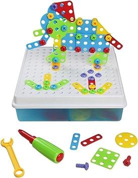 3D DIY Juguetes Bloques de Construcción Caja Colorida y Portátil Juegos de Mesa 129 Pieza para Niños Chico: Amazon.es: Juguetes y juegos