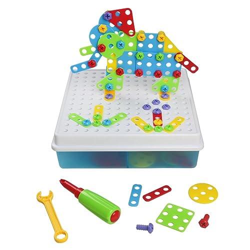Jeu Construction 3D Jeu Mosaique Enfant Puzzle Assemblage Enfant 3 4 5 Ans, 129Pcs
