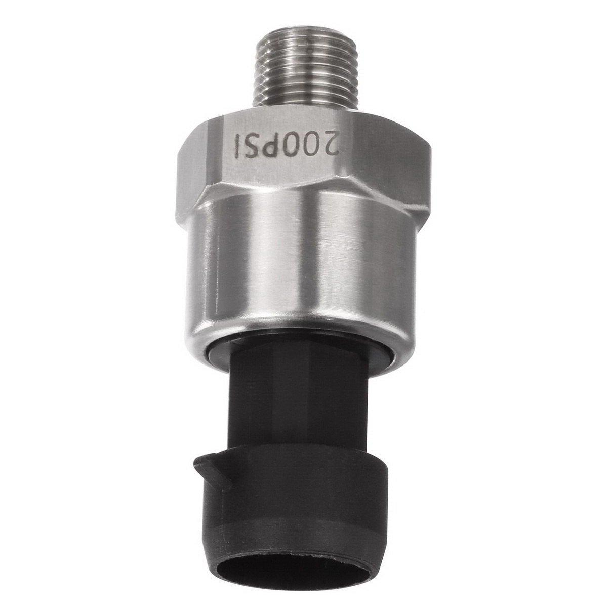 Best Transmission Oil Pressure Sensors: AUTEX Pressure Transducer/sender/sensor 200 Psi Stainless