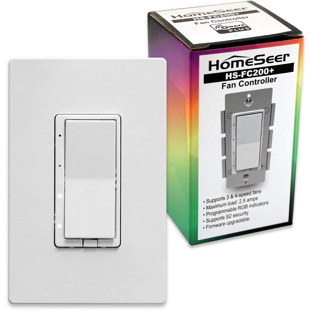 HomeSeer HS-FC200+ Z-Wave Plus Scene-Capable RGB Smart Fan Speed ...