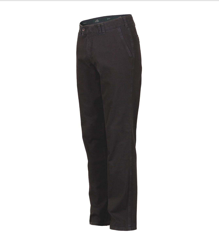 Club of Comfort Dallas Schwarz- Baumwolle, waschbar Flat Front-Jeanshose, elastischer Komfortbund, robuster Stretch-Ring-Denim, bügelleicht