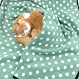 Alfie Pet by Petoga Couture – Quarry Fleece Blanket for Dogs and Cats – Color: Green Dot, Size: Large For Sale