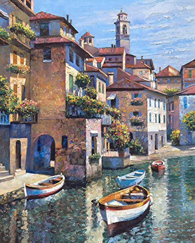 Numbered Limited Edition Art - HIDDEN COVE - LAKE COMO by Howard Behrens Signed & Numbered Limited Edition CANVAS