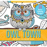 Owl Town Adult Coloring Book (31 stress-relieving designs) (Studio Series)