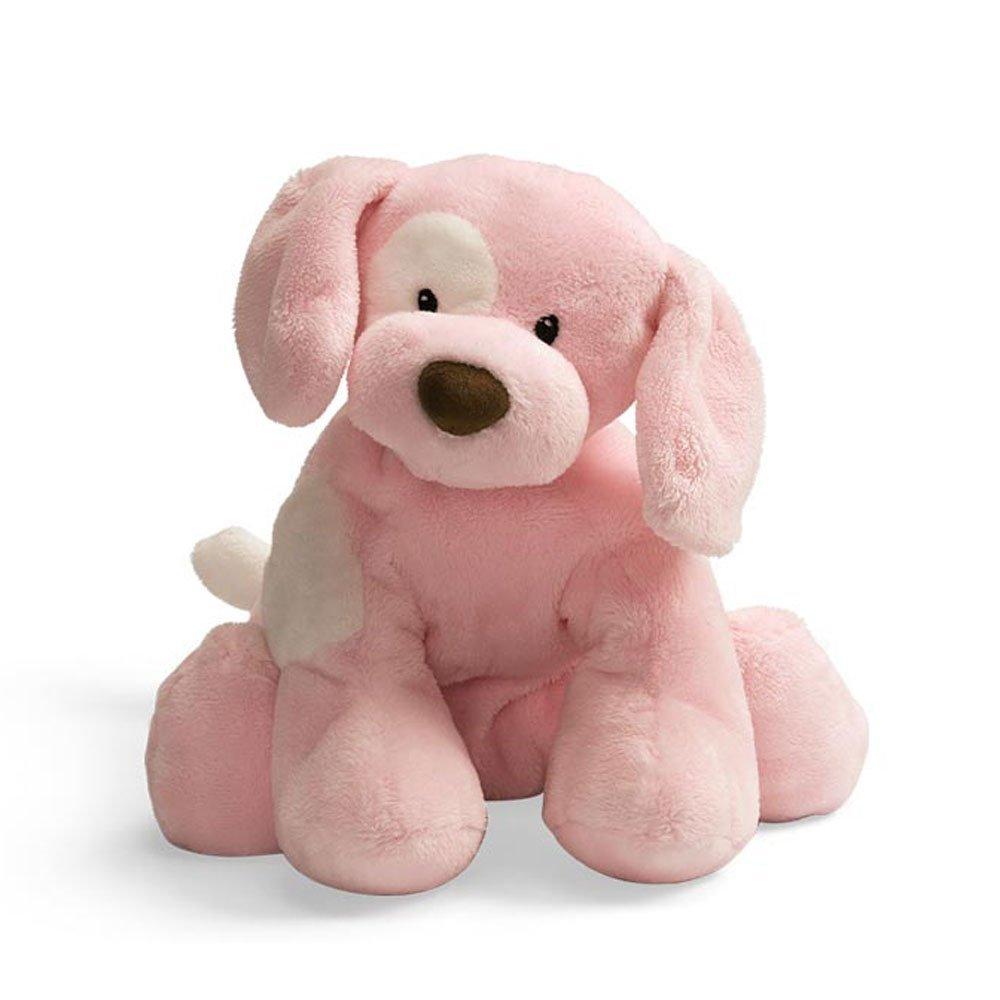 Spunky Puppy Baby Rattle - Pink by Baby Gund