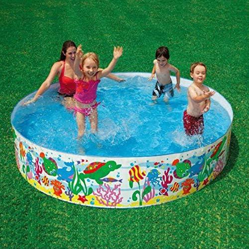 SUNHAON Diámetro 183 * Altura 38 Cm Piscina Redonda, Piscinas para Jardines, Piscinas Infantiles para Niños, Juguetes Al Aire Libre, Juguetes De Jardín para Niños: Amazon.es: Jardín