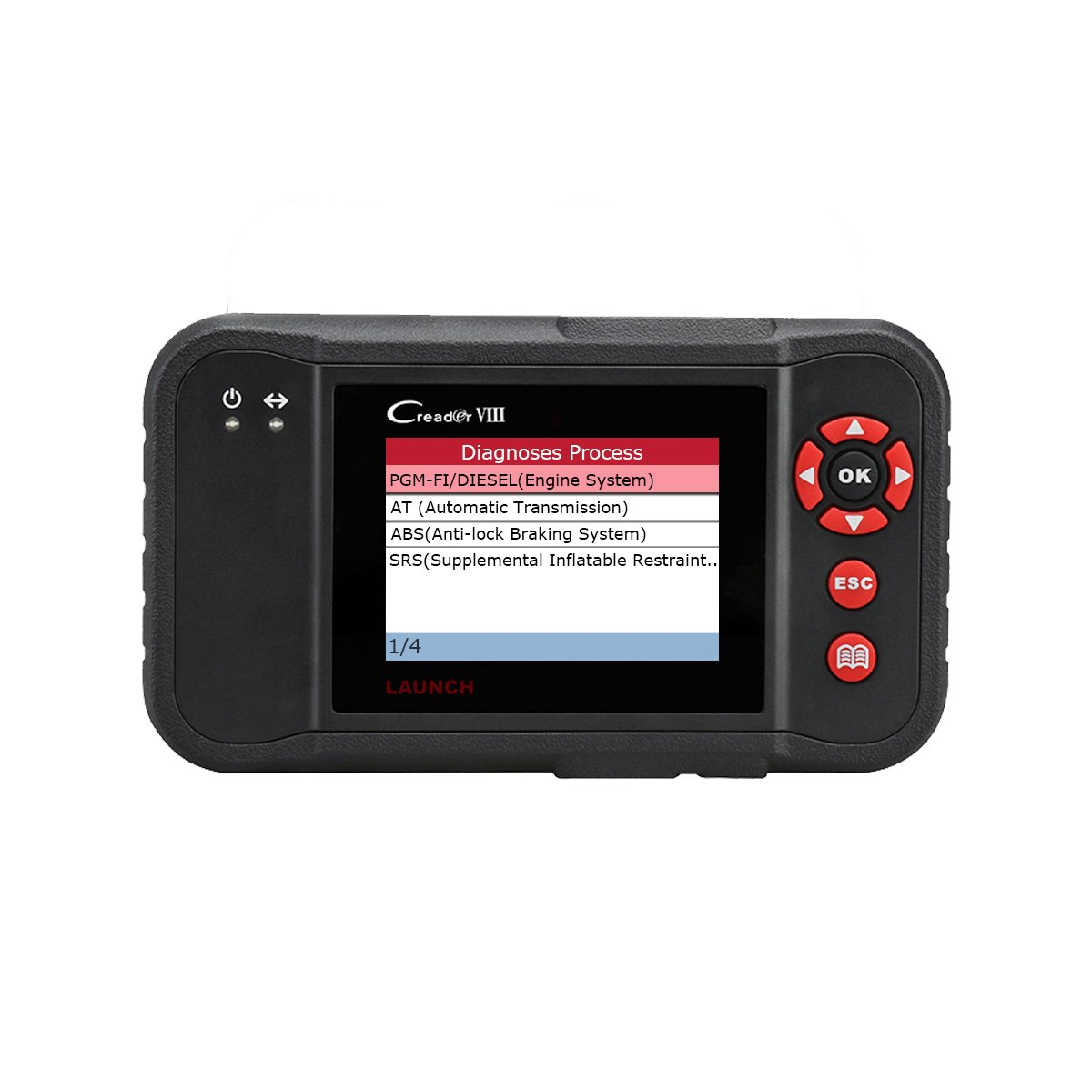 Launch Car Code Reader Creader VIII Professional Scan Tool, Including Full OBD2 Functions, Engine/Transmission/ABS/SRS Testing and SAS/EPB/Oil Reset for DIY Workshops Launch053