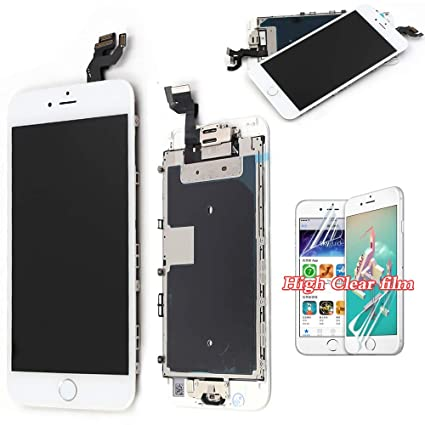 finest selection 2cd3d 4ef89 recyco Compatible Screen Replacement for iPhone 6S White - New LCD with  Home Button Front Camera + Proximity Sensor + Ear Speaker Full 3D Touch ...