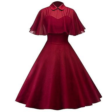 FANGZHENG Spring Women Dress Chiffon Cape Retro Party Dress Vestidos Peter Pan Collar Cloak Sleeve A