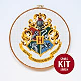 #1: Hogwarts Crest Cross Stitch Kit by Stitchering
