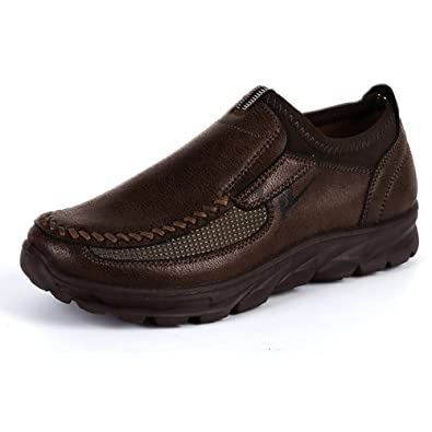 f13c4fec8d67 Mens Loafers Boat Non Slip On Leather Sneakers Casual Shoes Brown Comfortable  New Chic Suede(