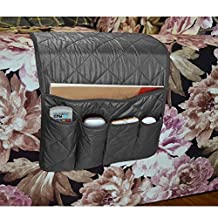 NOVADEAL Sofa Couch Chair Armrest Storage Organizer, Tools Holder Organizer with 5 Pockets, Fits for Phone, iPad, Book, Magazines, TV Remote Control - Black