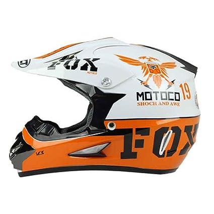 Amazon.es: Casco de Motocicleta de Rostro Completo para Hombres ...