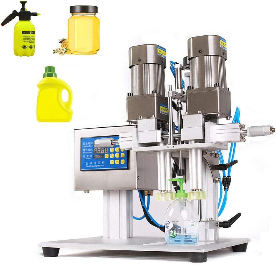 TFCFL Semi-automatic Pneumatic Bottle Capping Machine Screwing Machine For Spray Head Caps Diameter 25-55mm 110V 90W for Food, Daily Chemical, Pharmaceutical and other Industries