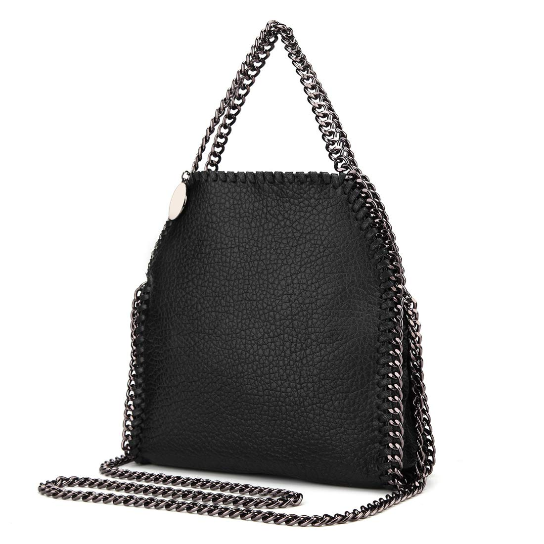 773814e24f8b Amazon.com  Leather Women Hobo with Chain Strap Soft Leather Shoulder Bag  with Chain Top Handle