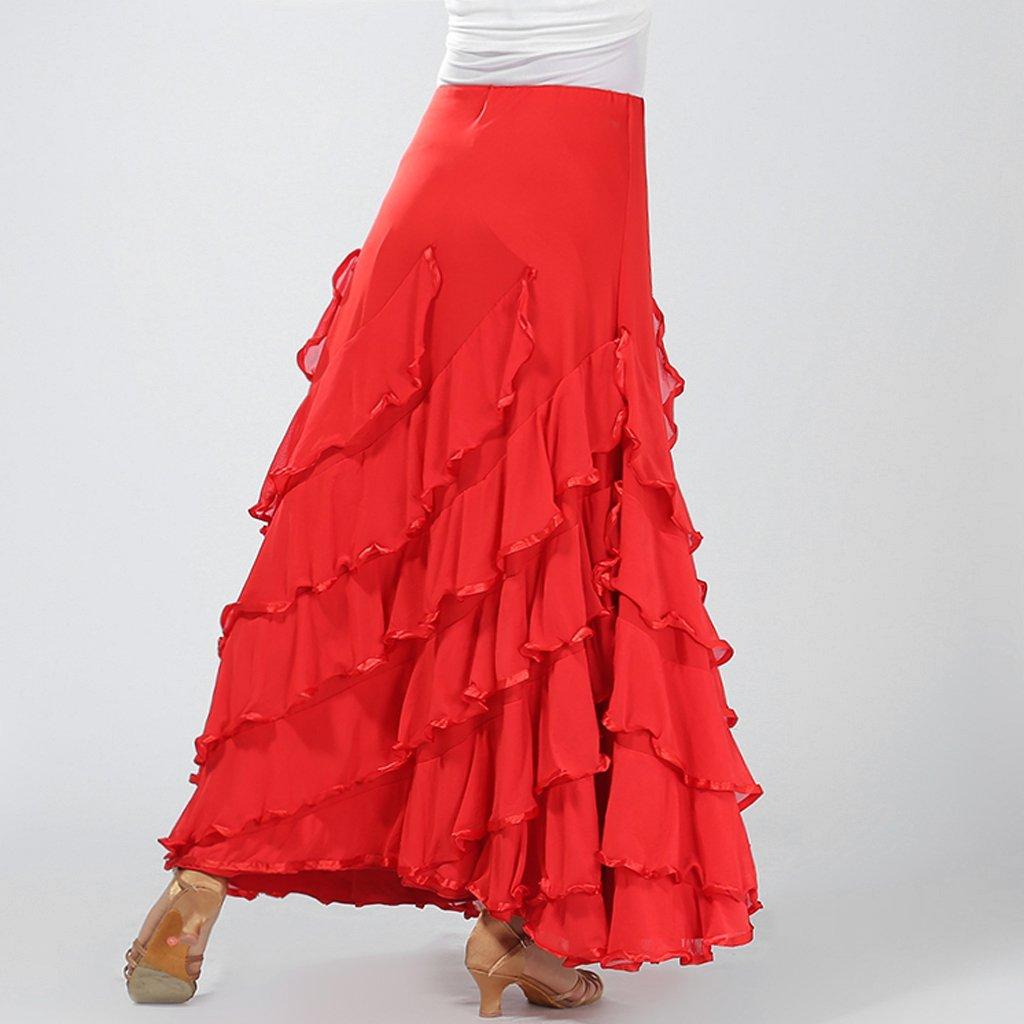 Baoblaze Vestido de Flamenca Ropa de Baile Accesorios de Mujer Falda de Tango