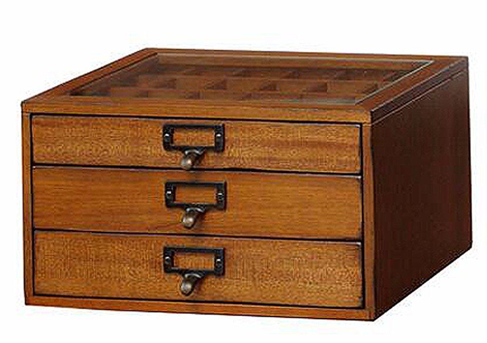 市場 モペ コレクションチェスト 幅33.5×高さ19cm ブラウン MOK-2523BR B00910YX30