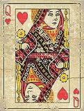Jumbo Queen Playing Card, Den, Gameroom, Mancave