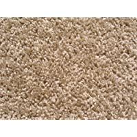 Beige Taffy Apple Area Rug. Frieze Plush Textured Carpet 8 x 10