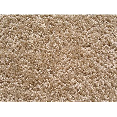 Beige Taffy Apple Area Rug. Frieze Plush Textured Carpet 8' x 10'