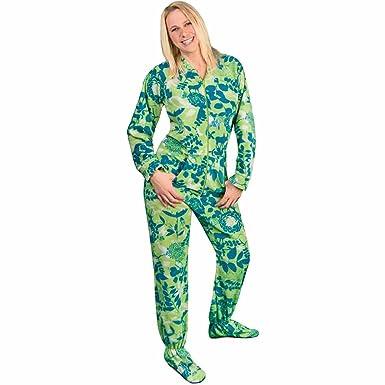 Footed Pajamas Drop Seat Fleece Nature Silhouettes, 3