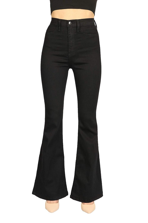 7b606fee8d StyLeUp Women's Premium High-Waist Denim Skinny & Flared Jeans