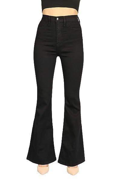Amazon.com: StyLeUp - Pantalones vaqueros de cintura alta ...