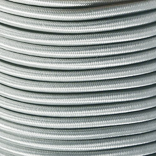West Coast Paracord Marine Grade Shock Cord 1/4-inch - Lengths up to 1000 feet - Made in USA (50 Feet, Silver Gray)
