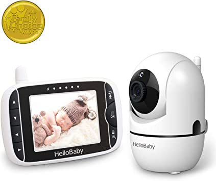 Hello Baby HB65 Baby Monitor With Remote Pan-Tilt Digital Zoom Camera And 3.2