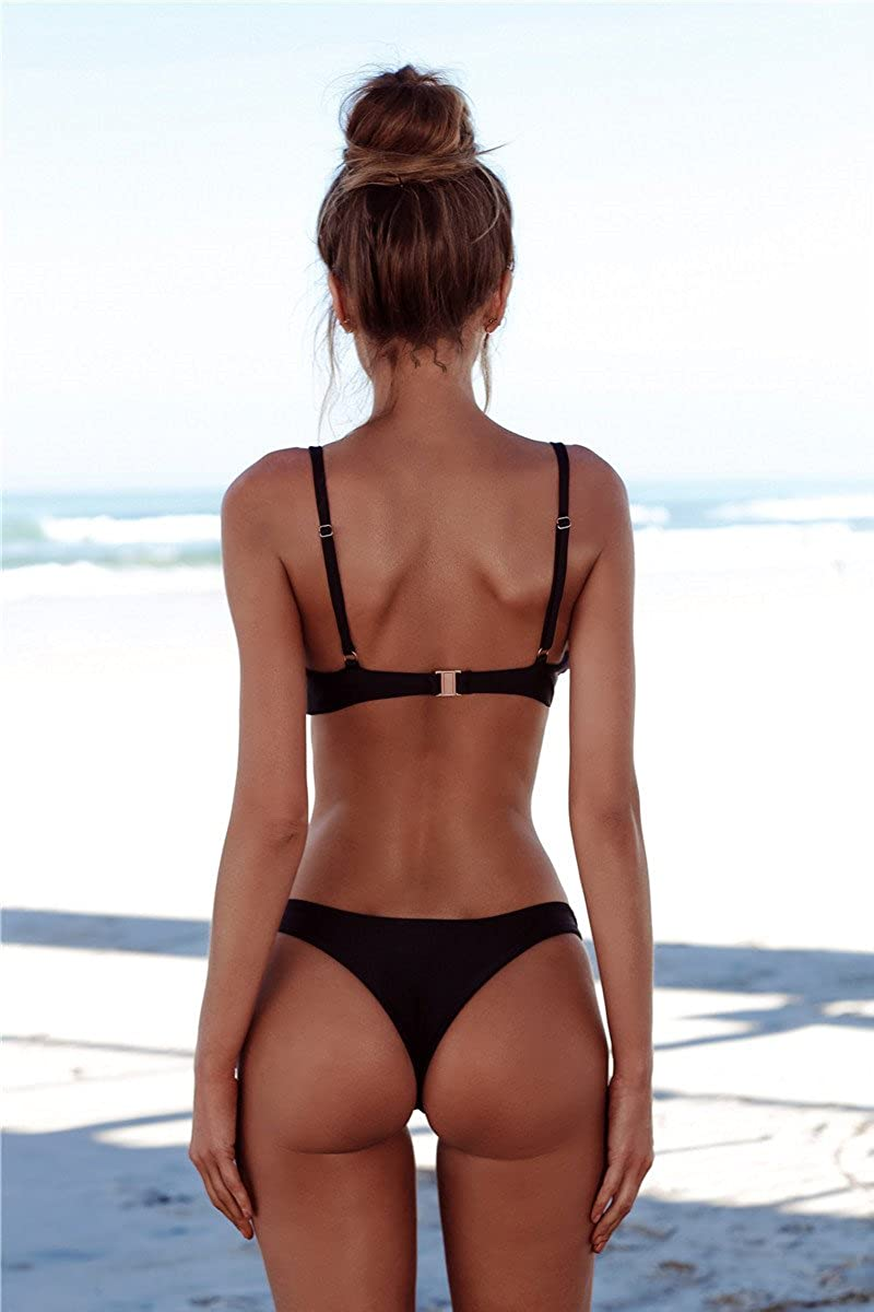 Yuson Girl Frauen Tanga Bikini Set Push Up Bikini Set Gepolsterter BH Bikini Set Badeanzug Swinwear Beachwear