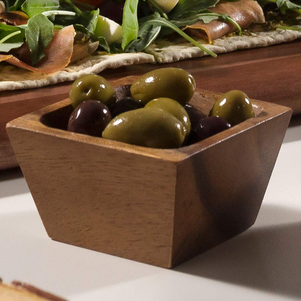 Lipper International 1100-2 Acacia Wood Square Salt Pinch or Serving Bowls, 3'' x 3'' x 2-1/2'', Set of 2 by Lipper International (Image #6)