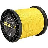 Skysper 1000M diametro 0.1mm PE Linea di Pesca Super forti Quattro fili di linea intrecciata Multifilament pesca polietilene filo ritorto Lenza da pesca blu