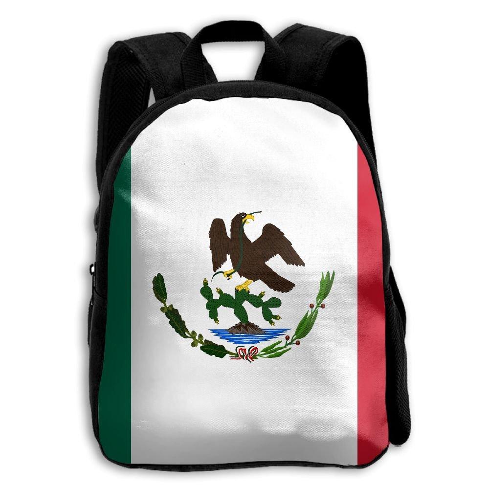 fidaljfメキシコ国旗子供の3dプリントファスナー付き旅行バッグ学校バックパック   B07DN7YF39
