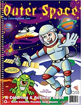 Outer Space Coloring Book (8.5x11): ColoringBook.com, Really Big ...