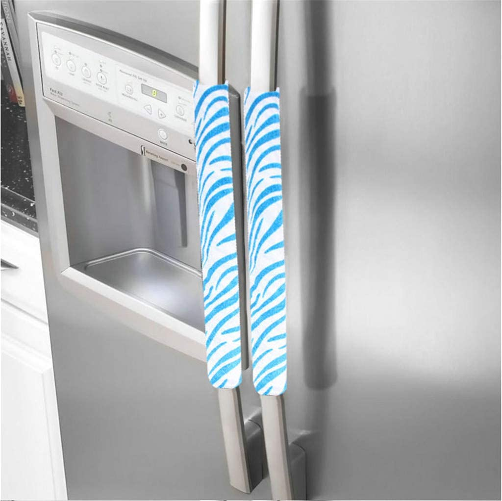 Blue Wffo A Pair Refrigerator Handle Cover Kitchen Appliance Refrigerator Cover♚Hotel Door Handle Gloves♚Door Handle Gloves♚8 Colors Optional