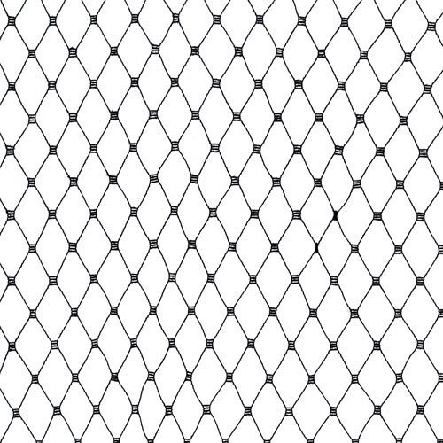 - Jason's 18in Russian Netting Black Fabric by The Yard,