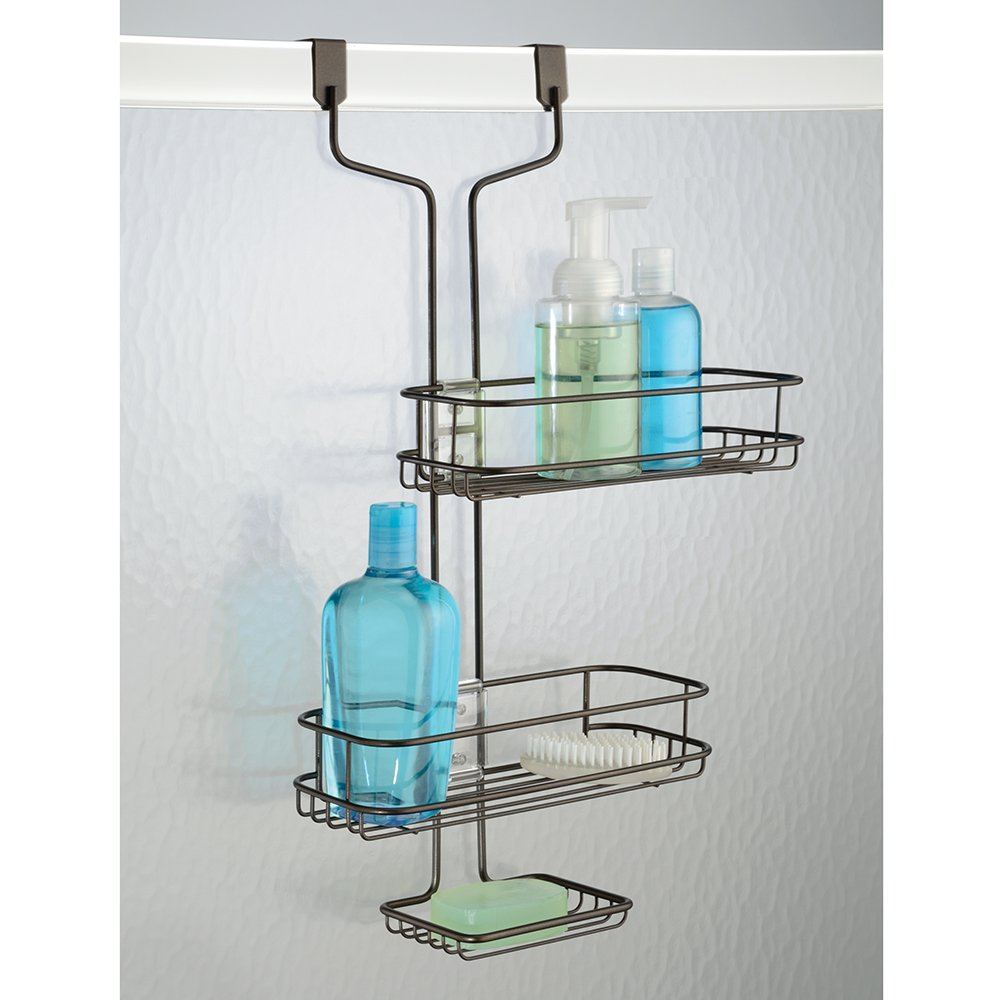 Amazon Interdesign Linea Adjustable Over Door Shower Caddy