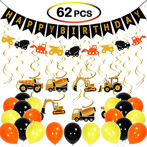 Birthday Party Supplies Happy Birthday Banner Balloon Party Decoration Kit Party Favors Car Birthday Hanging Swirl For Baby Shower Boys Girls Birthday ()