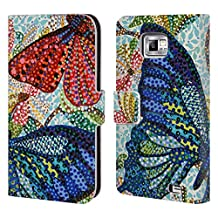 Official Erika Pochybova Butterflies 3 Insects Leather Book Wallet Case Cover For Samsung Galaxy Grand Prime